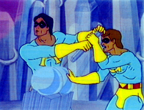 ... the Ambiguously Gay Duo as voiced by Stephen Colbert and Steve Carrel.