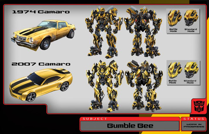Transformers movie bumblebee concept art surfaces powet tv games