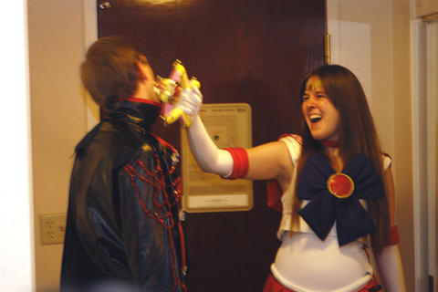 Sailor Mars  smacking Jadeite