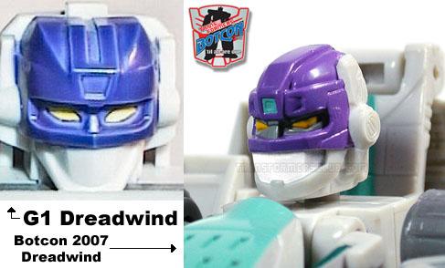 Botcon 2007 Dreadwind Classics vs G1 Head