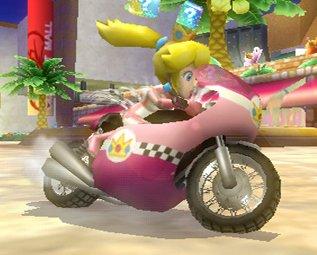 Peach on a bike!