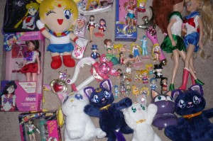 A few Sailor Moon toys
