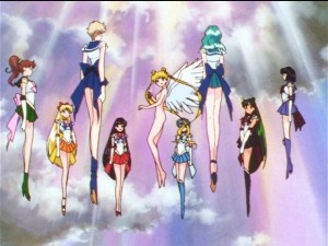 Sailor Senshi in the clouds