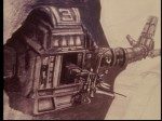 Concept sketch of one of the drone robots from Silent Running