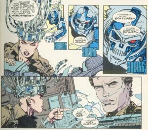 The link between Alex Murphy and Skynet from the Robocop versus Terminator comic