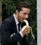 Shia LaBeouf eating a banana