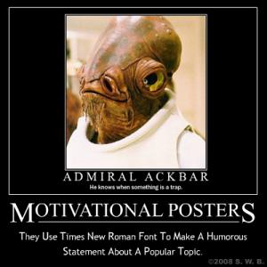 Meta Admiral Ackbar Motivational Poster
