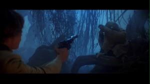 Luke meets Yoda in Star Wars: The Empire Strikes Back
