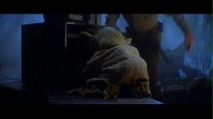 Yoda going through Luke's stuff in Star Wars: The Empire Strikes Back
