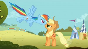 My Little Pony: Friendship is Magic - Rainbow Dash arguing with Applejack