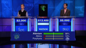 Watson rates his Jeopardy! answers and buzzes in if it passes a threshold