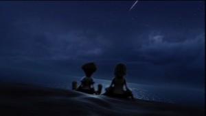 Kingdom Hearts Sitting on the Beach
