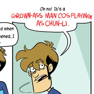 "Penny Arcade mentions a ""Grown-ass man cosplaying as Chun-Li"""