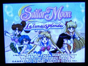 Sailor Moon La Luna Splende Title Screen