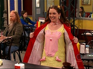 Harper Finkle Wearing an Outfit Made out of her Baby Clothes