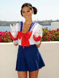 Olivia Munn Cosplaying as Sailor Moon at SDCC 2011