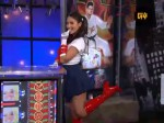 Olivia Munn Cosplaying as Sailor Moon on Attack of the Show doing a Sexy Pose