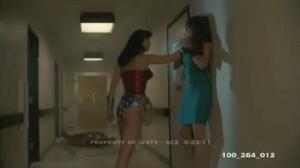 Wonder Woman Chokes Elizabeth Hurley