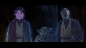 Jake Lloyd joins the other ghosts in Return of the Jedi