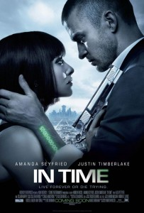 """In Time"" Poster featuring Amanda Seyfried and Justin Timberlake"