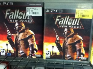 New and used games side by side at EB Games (Canadian Gamestop) - Fallout New Vegas for PS3