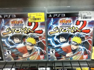 New and used games side by side at EB Games (Canadian Gamestop) - Naruto Ninja Storm 2 for PS3