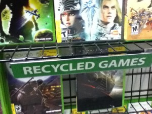 "A ""Recycled"" used games section continues to exist at EB Games"