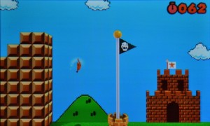 Super Mario 3D Land - A flag and castle inspired by Super Mario Bros.