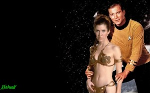 Captain Kirk and Princess Leia