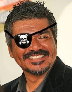 George Lopez wearing an Eyepatch