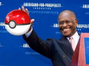 Herman Cain loves Pokemon