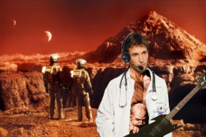 Noah Wyle as John Carter of Mars on vocals and Kuato on guitar