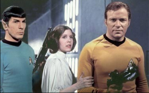 Spock, Princess Leia and Captain Kirk