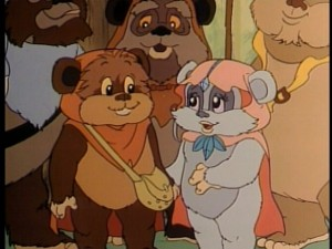 Ewoks cartoon Wicket and Kneesaa