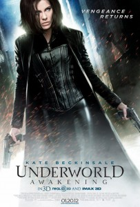 Underworld Awakening poster of Kate Beckinsale as Selene