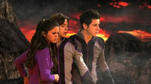 Wizards of Waverly Place - Who Will Be the Family Wizard - Alex (Selena Gomez) Max (Jake T. Austin) and Justin (David Henrie) in the Wizard Competition