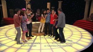 Wizards of Waverly Place - Who Will Be the Family Wizard? - Everyone is happy - Zeke, Harper, Juliette, Mason, Alex, Justin, Max, Theresa and Jerry