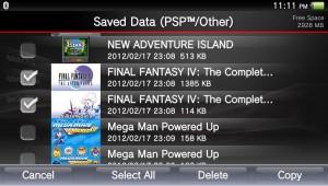 PlayStation Vita transfering saved data