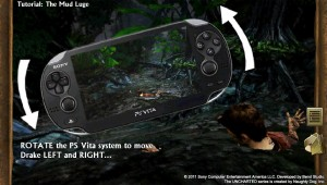 PlayStation Vita - Uncharted: Golden Abyss - Rotate to move left or right