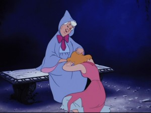 Cinderella going down on Fairy Godmother