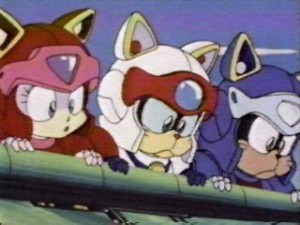 The Samurai Pizza Cats Polly Ester, Speedy Cerviche and Guido Anchovy