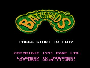 Battletoads - Title screen