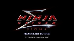 Ninja Gaiden Sigma - Title screen