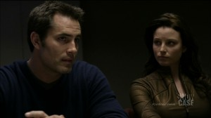 "Continuum ""A Stitch in Time"" - Victor Webster as Carlos Fonnegra and Rachel Nichols as Kiera Cameron"