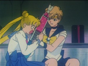 Sailor Moon episode 110 - Usagi struggles with Haruka