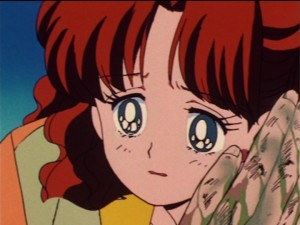 Sailor Moon episode 24 - Naru crying as Nephrite dies