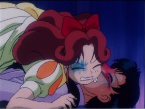 Sailor Moon episode 56 - Nasumi fails to kiss Mamoru