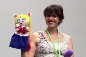 Terri Hawkes voice of Sailor Moon at Florida anime experience