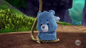 Care Bears Welcome to Care-a-Lot - Compassion -- Not! - Grumpy Bear stuck in the mud