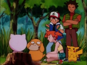 Jigglypuff singing to Psyduck